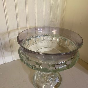 Indiana Glass Dining - Indiana Glass Kings Crown clear compote